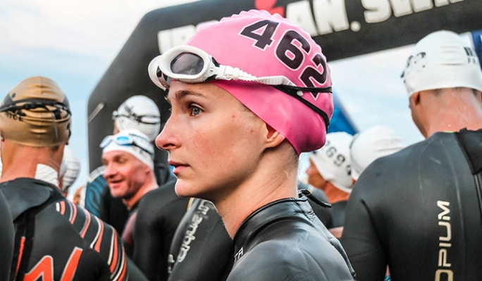 Laura Capellier lors de l'Ironman de Nice