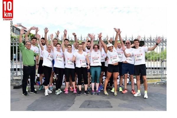 team MON STADE aux 10KM DE L'EQUIPE 2017