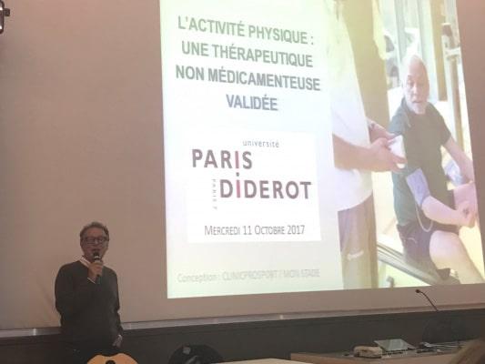 Le Dr KRZENTOWSKI intervient à l'UFR de médecine de Paris 7-Diderot